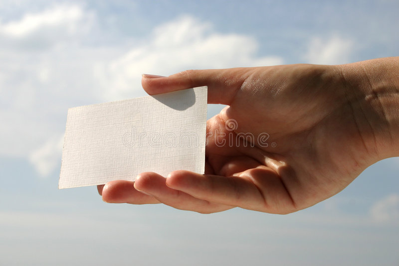 Download Tenuta Del Biglietto Da Visita In Bianco #6 Immagine Stock - Immagine di advertise, commerciale: 220007