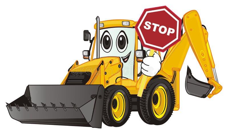 Tenuta dell'escavatore un segno royalty illustrazione gratis