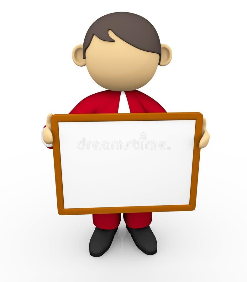 Tenuta della scheda bianca royalty illustrazione gratis