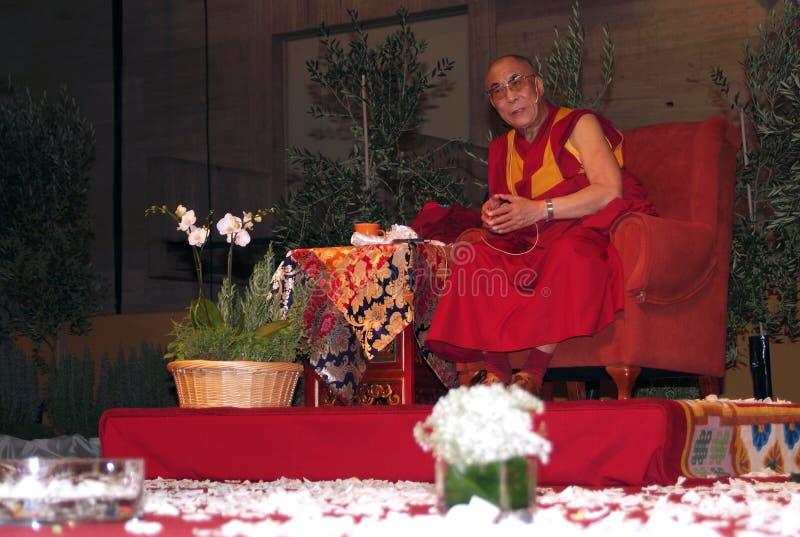 Tenzin Gyatso royaltyfria bilder