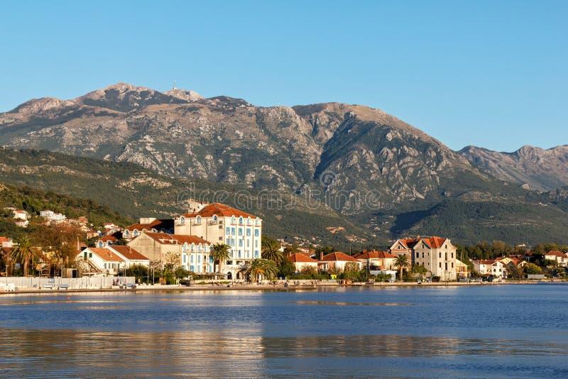 Teodo, baia di Cattaro, Montenegro fotografie stock libere da diritti