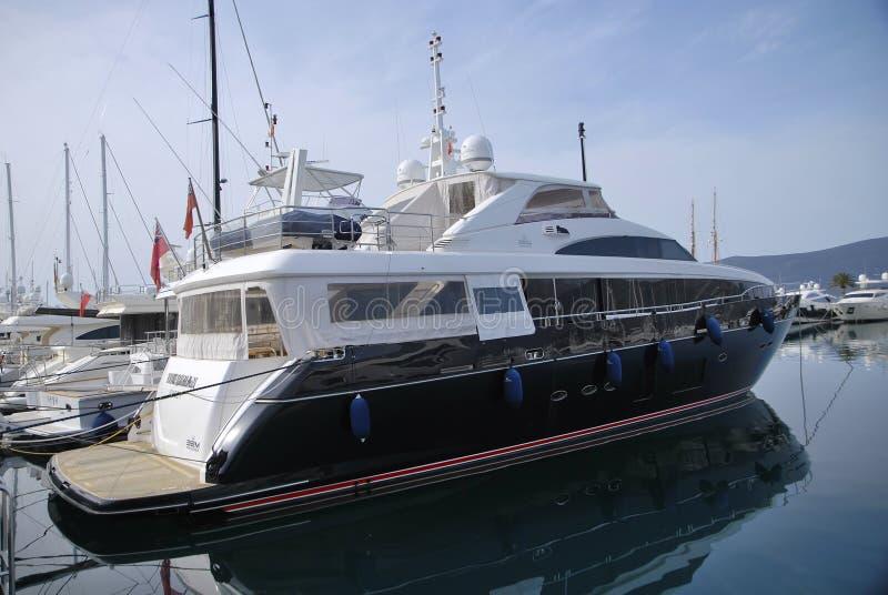 Teodo Oporto Montenegro yachts immagini stock libere da diritti