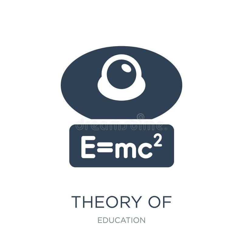 teoría del icono de la relatividad en estilo de moda del diseño teoría del icono de la relatividad aislada en el fondo blanco Teo libre illustration