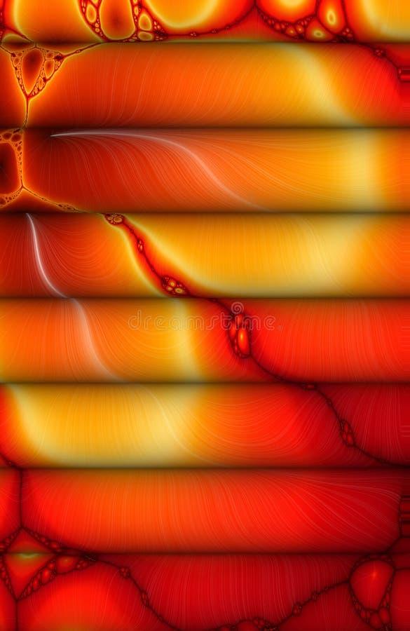 Teoría del rodillo de la lava ilustración del vector