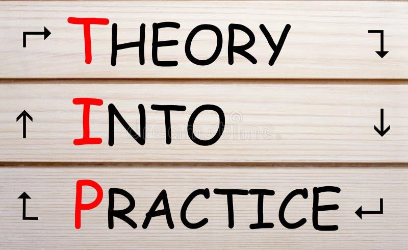 Teoría en concepto del TIP de la práctica fotografía de archivo libre de regalías