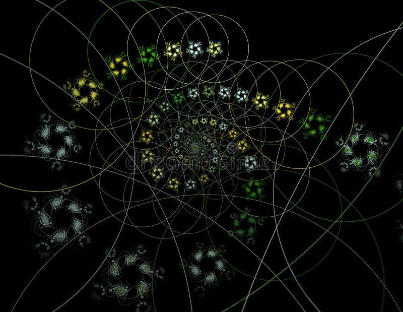 Teor?a de la secuencia Procesos f?sicos y enredo del qu?ntum stock de ilustración