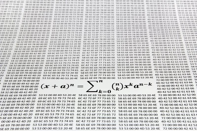Teorema binário imagem de stock royalty free