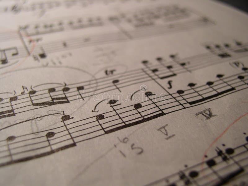 Teoria 101 da música imagens de stock