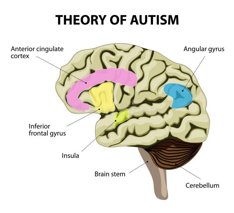 Teoria autyzm royalty ilustracja