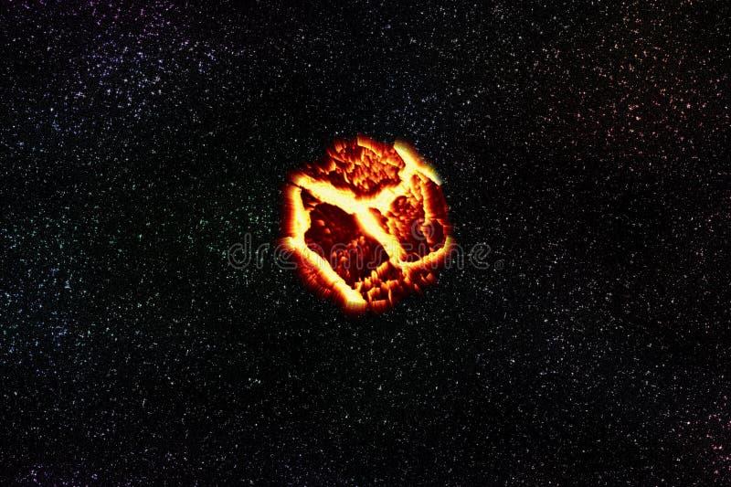 Teoria de explosão do planeta ilustração royalty free