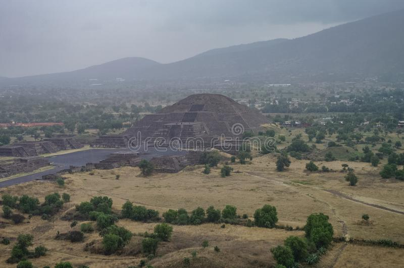 teotihuacan月亮的金字塔 teotihuacan 库存图片