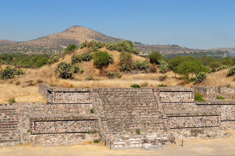 Teotihuacan Aztec ruins near Mexico city royalty free stock image