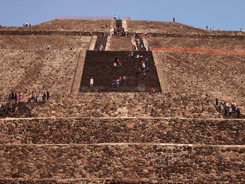 Teotihuacan, México, uma civilização Pre-Columbian antiga que precedesse a cultura asteca imagem de stock royalty free