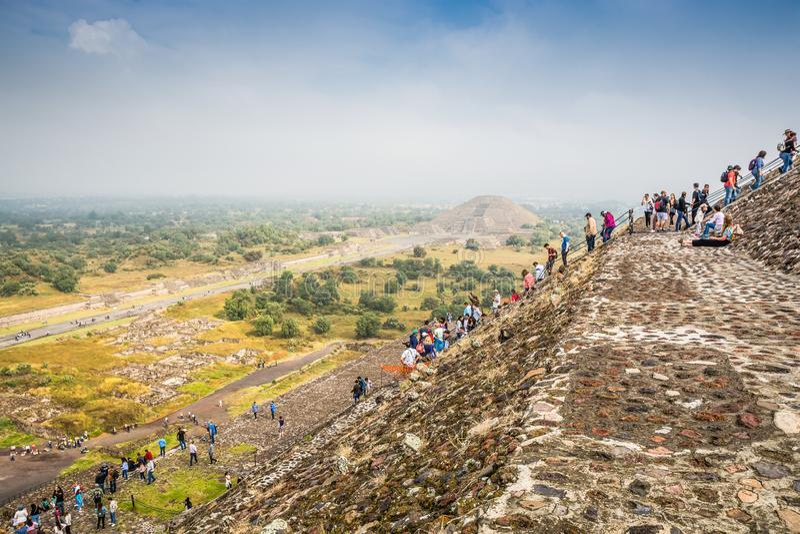 Teotihuacan Meksyk, Pa?dziernik, - 27, 2018 Archeological miejsce fotografia royalty free