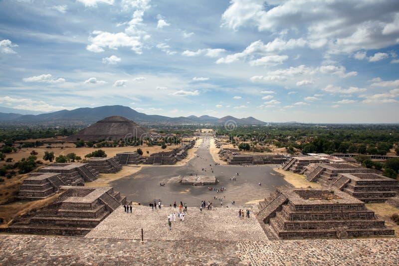 Teotihuacan, Mexique image libre de droits