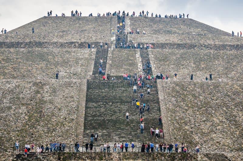 Teotihuacan, Mexique - 27 octobre 2018 Site arch?ologique photographie stock libre de droits