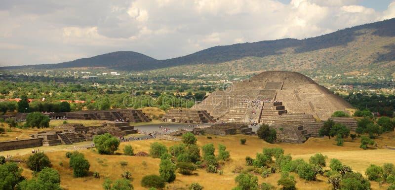 Teotihuacan Moon pyramid royalty free stock photo