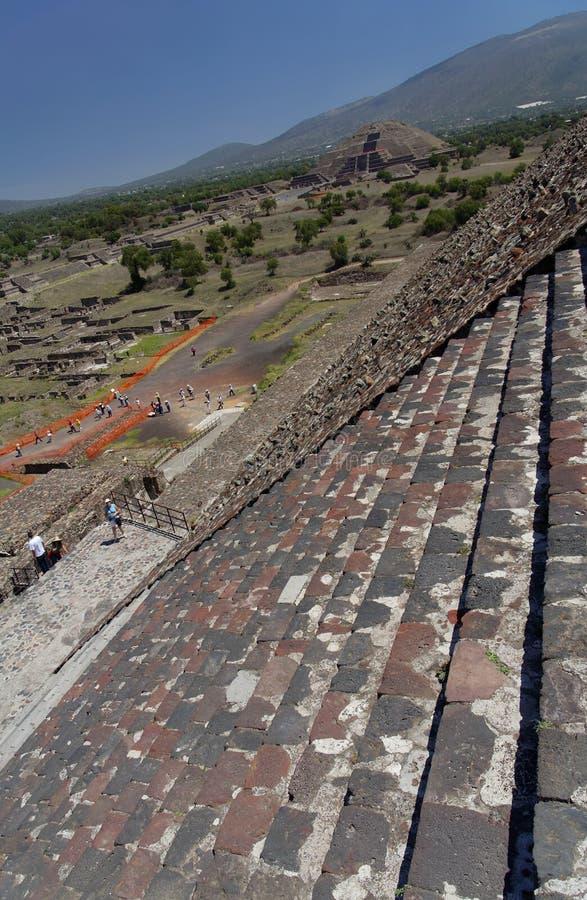 teotihuacan moonpyramid royaltyfri fotografi