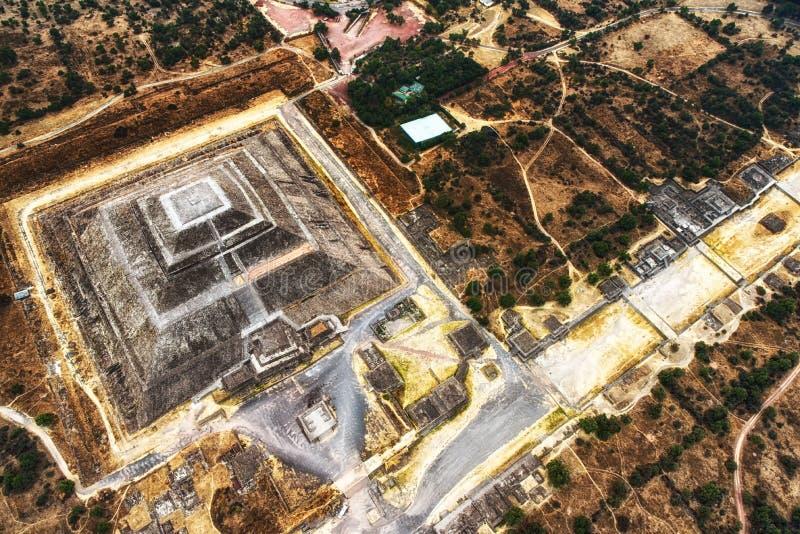 Teotihuacan, a pirâmide do sol fotografia de stock