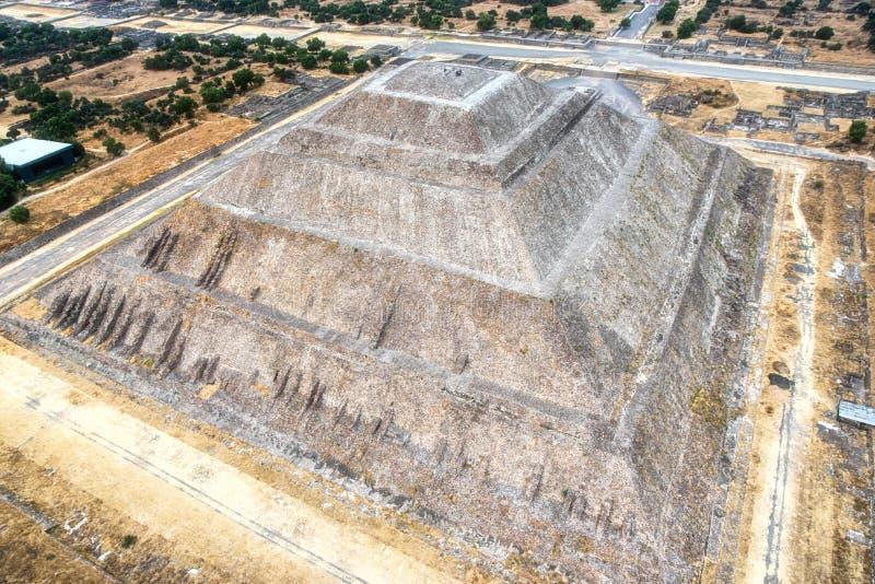 Teotihuacan, a pirâmide do sol imagem de stock