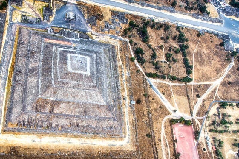 Teotihuacan, a pir?mide do sol foto de stock