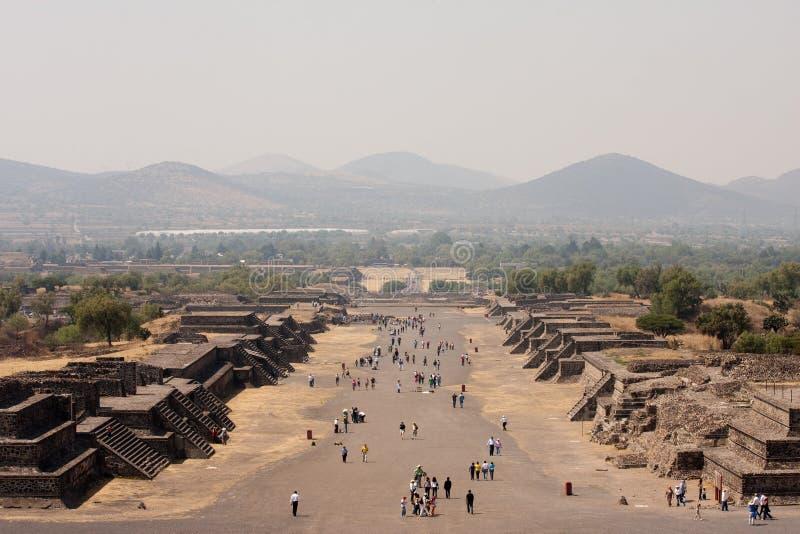 teotihuacan piramides royaltyfria foton