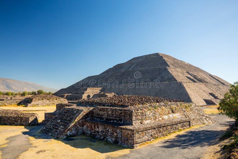 Teotihuacan Pyramid of the Sun, Mexico stock photos
