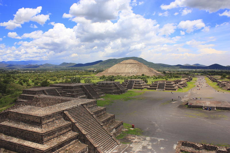 Teotihuacan pyramids. Pyramids of the archaeological site of teotihuacan, near mexico city stock photo