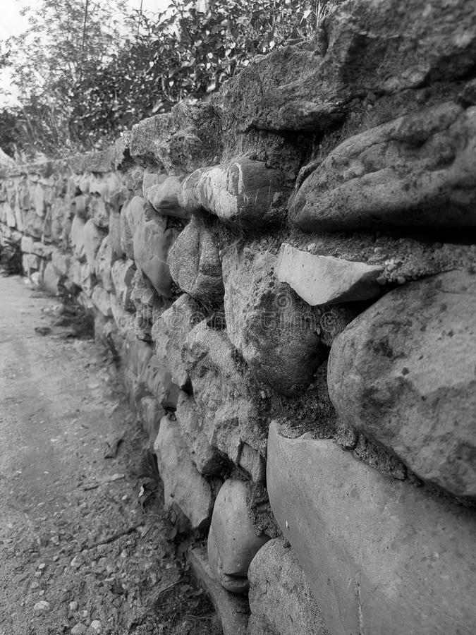 teotihuacan vägg för mexico pyramidsun royaltyfri fotografi