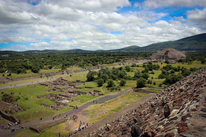 Teotihuakan, México imagens de stock