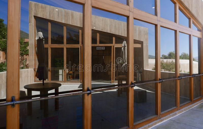 Teotitlan del Valle, México-21 de dezembro de 2018: Museu da Cultura e do Fabrico de Teotitlan del Valle imagem de stock