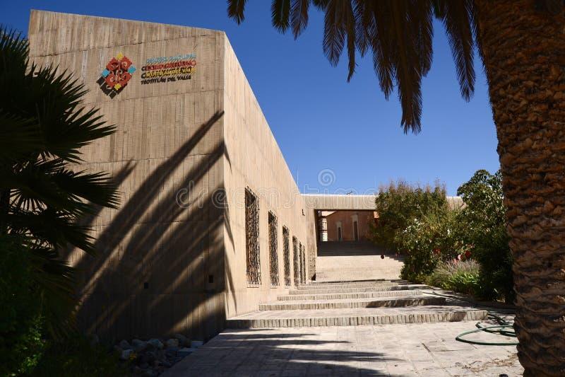 Teotitlan del Valle, México-21 de dezembro de 2018: Museu da Cultura e do Fabrico de Teotitlan del Valle fotos de stock