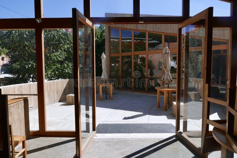 Teotitlan del Valle, Mexico-December 21, 2018: Fabric and culture museum of Teotitlan del Valle royalty-vrije stock fotografie