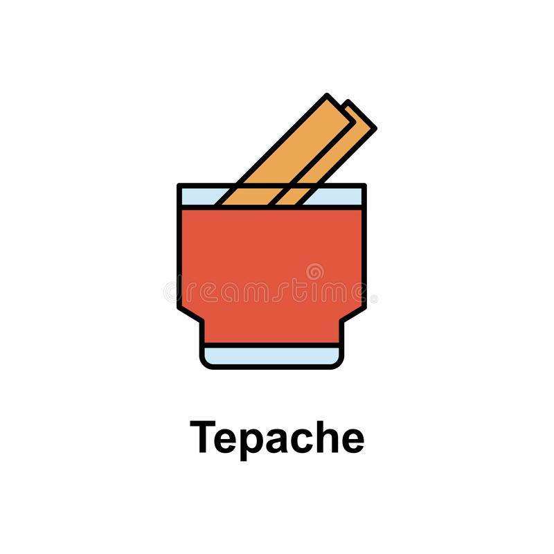 Tepache, drink icon. Element of Cinco de Mayo color icon. Premium quality graphic design icon. Signs and symbols collection icon royalty free illustration