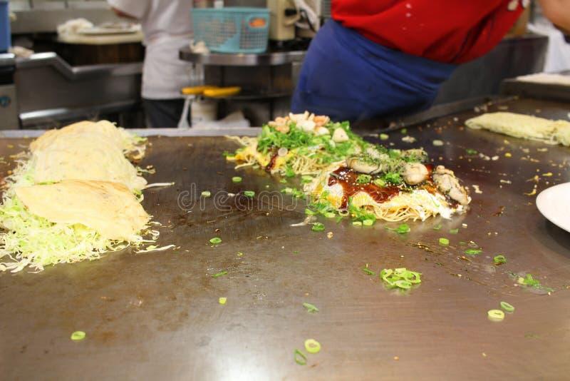 Tepanyaki tradicional en Hiroshima Japón imagen de archivo