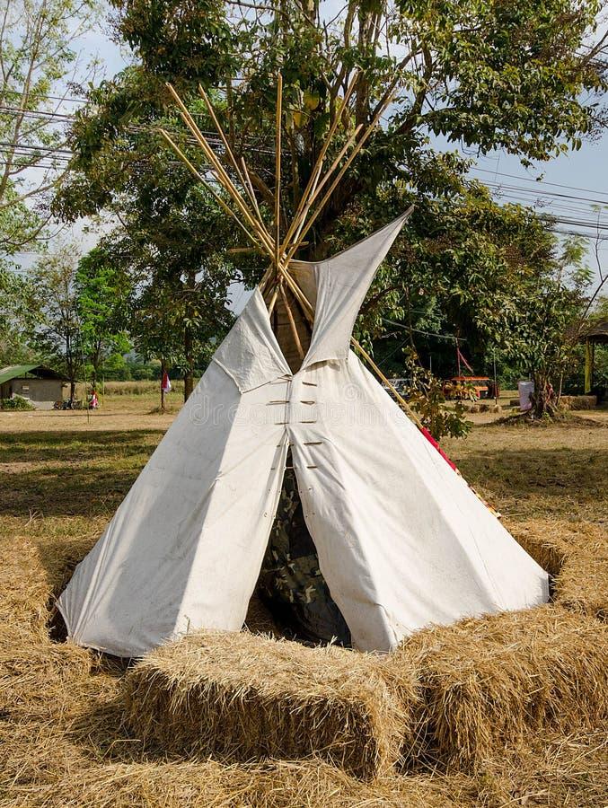 Tepee authentique d'indigène d'Indien photographie stock libre de droits