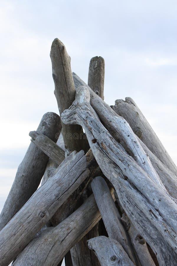 Tepee del legname galleggiante immagini stock