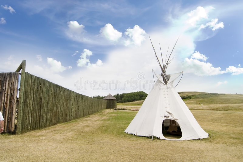 Tepee Detail stock photography