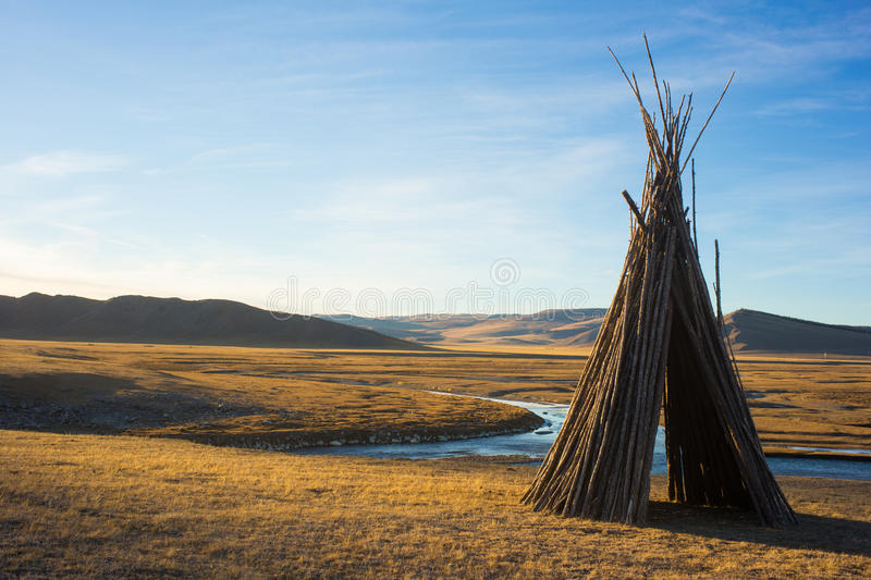 Tepee in Mongolia royalty free stock image