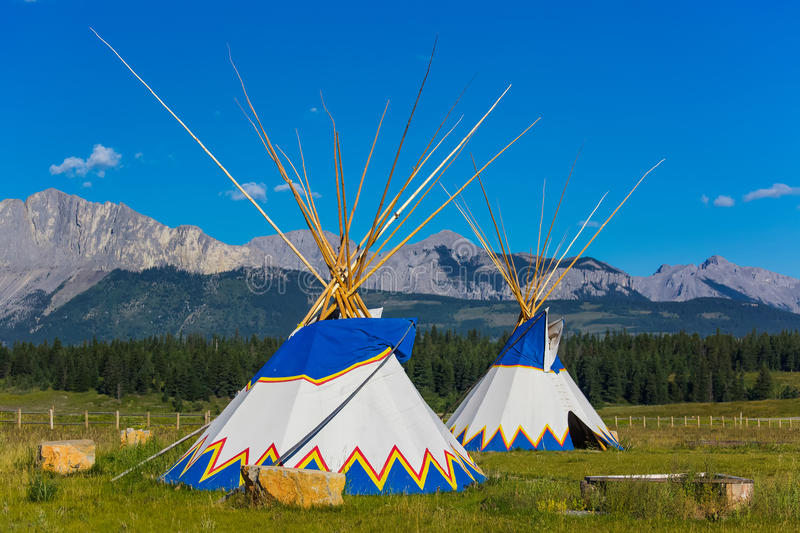 tepees immagini stock