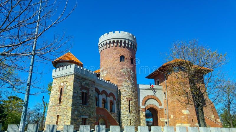 Tepes castel在布加勒斯特 免版税库存图片