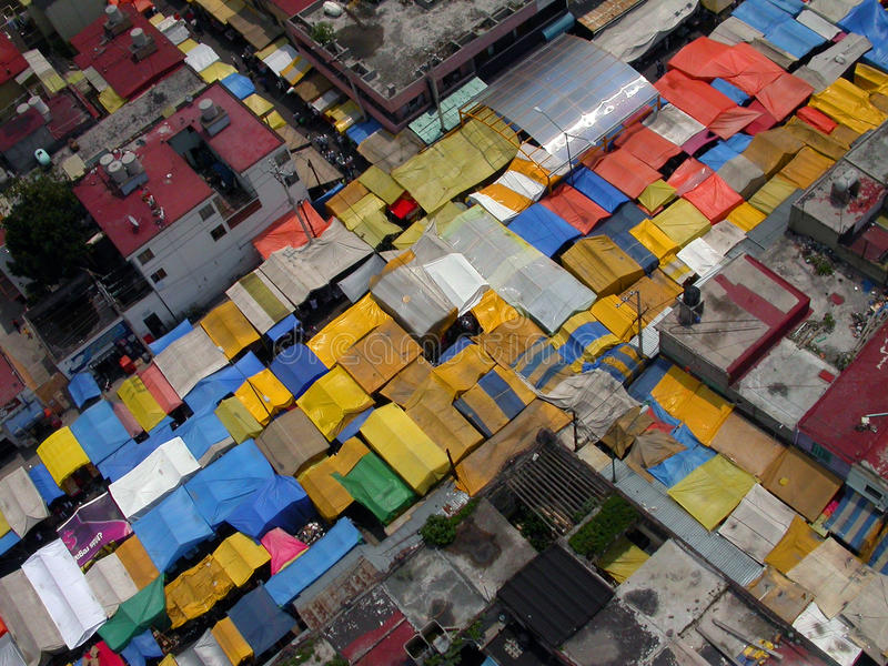 Download Tepito Market Aerial editorial stock photo. Image of barrio - 14344068