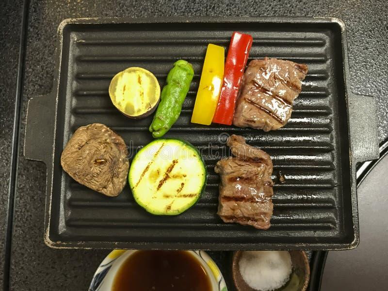 Teppanyaki-Tischplatte, die Hakone Japan kocht stockfoto
