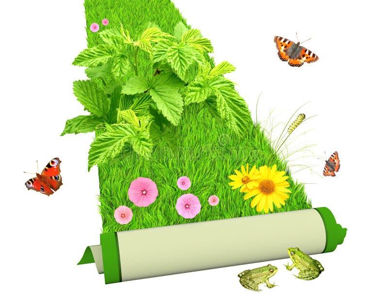 Gehen Grün lizenzfreie abbildung