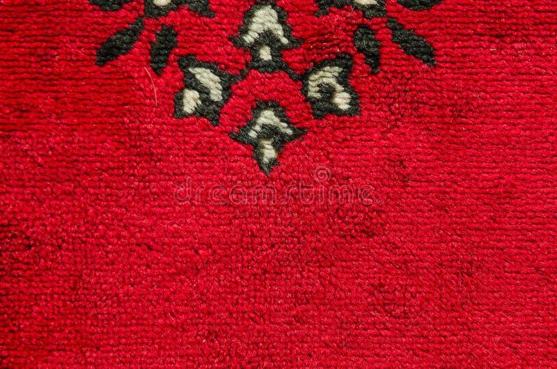 Teppichbeschaffenheit der Eleganz rote Farb stockfotografie