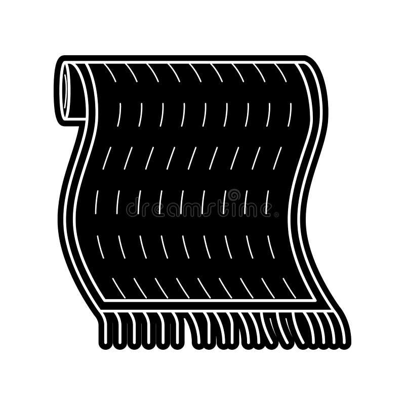Teppichikone Element von arabischem f?r bewegliches Konzept und Netz Appsikone Glyph, flache Ikone f?r Websiteentwurf und Entwick stock abbildung