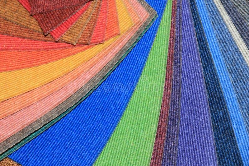 Teppichmuster in einem Shop stockfoto