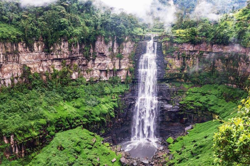 Tequendama cai perto de Bogotá, Colômbia imagens de stock