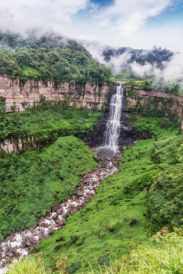Tequendama Falls near Bogota, Colombia royalty free stock photos