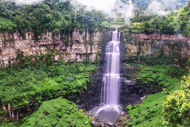 Tequendama Falls near Bogota, Colombia stock images